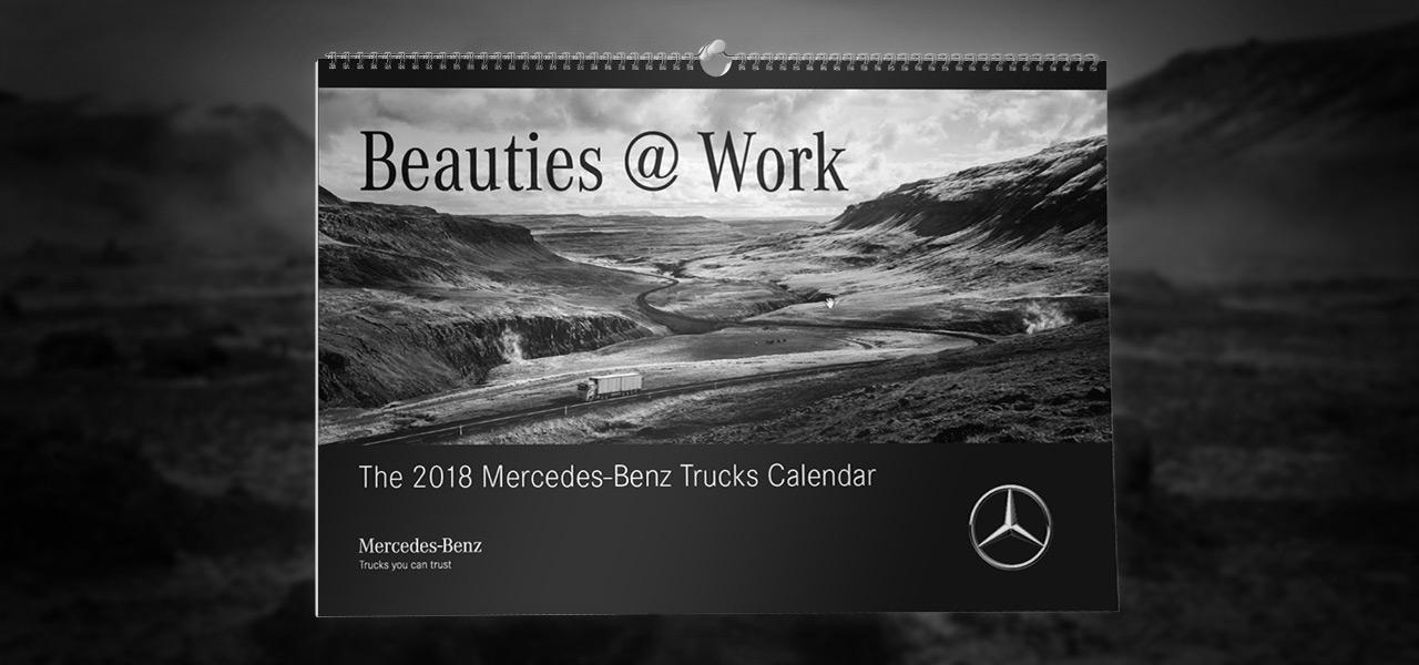 beauties work der mercedes benz trucks kalender 2018. Black Bedroom Furniture Sets. Home Design Ideas