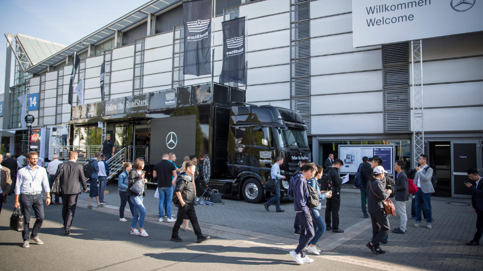 At the IAA for commercial vehicles, the RoadStars Show Truck is always present wherever truck fans and truckers meet up.