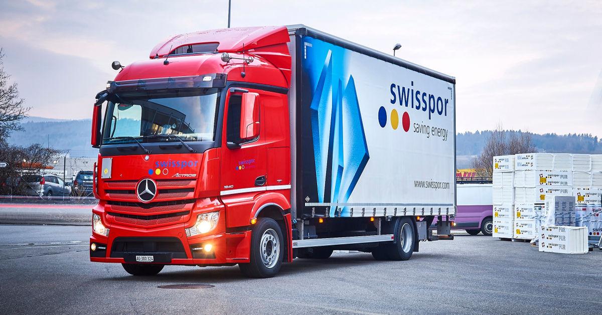 swisspor AG investiert in neun neue Mercedes-Benz Fahrzeuge - RoadStars