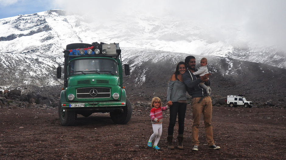 Two years and almost 100,000 kilometres: the Schmitts will never forget this journey in their green classic truck.