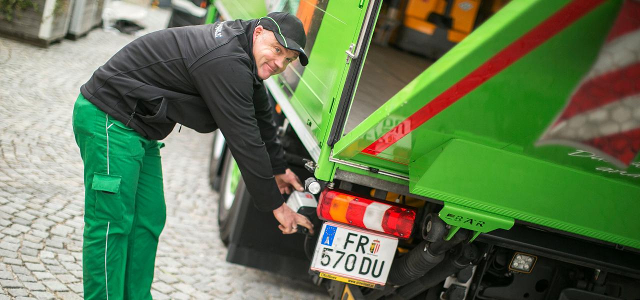 Reinhard Lengauer liefert das Bier der Braucommune Freistadt