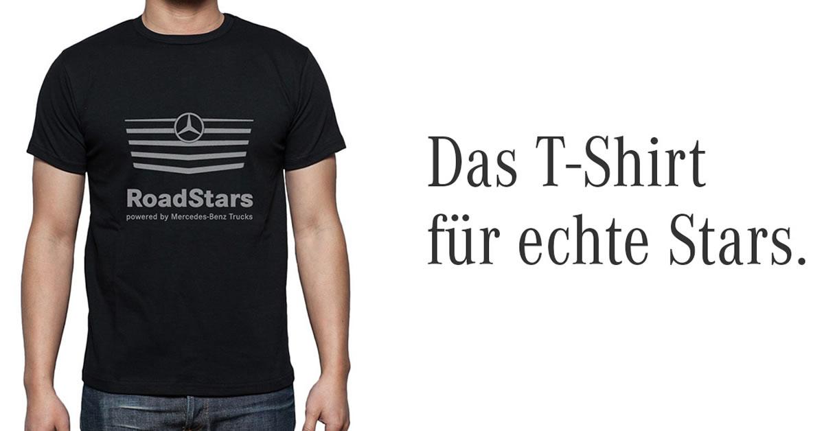 Gewinnspiel roadstars t shirts roadstars for T shirt mercedes benz