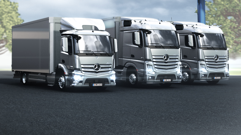 Technikfilme der neue actros roadstars for Mercedes benz residual value