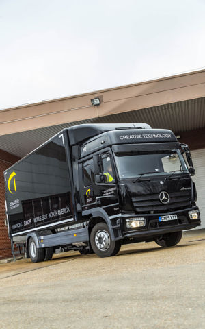 Eye catching mercedes benz atego is black magic for for Mercedes benz truck financial