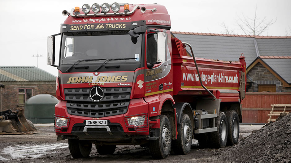 Mercedes benz arocs tips the balance for john jones for How much is service a for mercedes benz