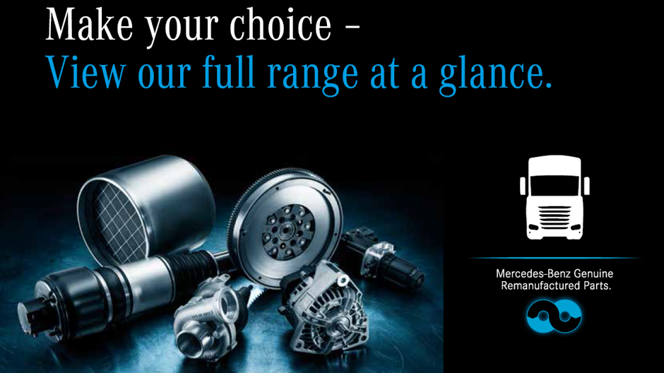 Genuine remanufactured parts roadstars for Original mercedes benz parts online